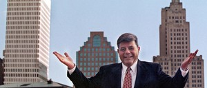 "A photo of Providence Mayor Vincent ""Buddy"" Cianci Jr.,"