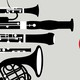 An illustration of woodwind instruments.