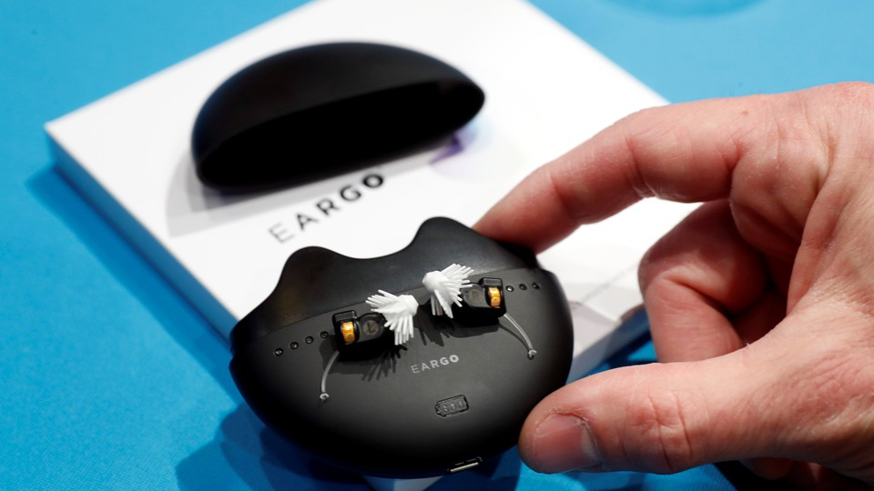 A set of modern hearing aids