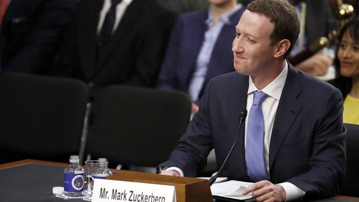 Mark Zuckerberg testifies before the Senate Commerce and Judiciary committees on Tuesday.