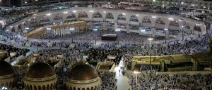 Muslims pray at the Grand Mosque during the annual Hajj pilgrimage in the holy city of Mecca.