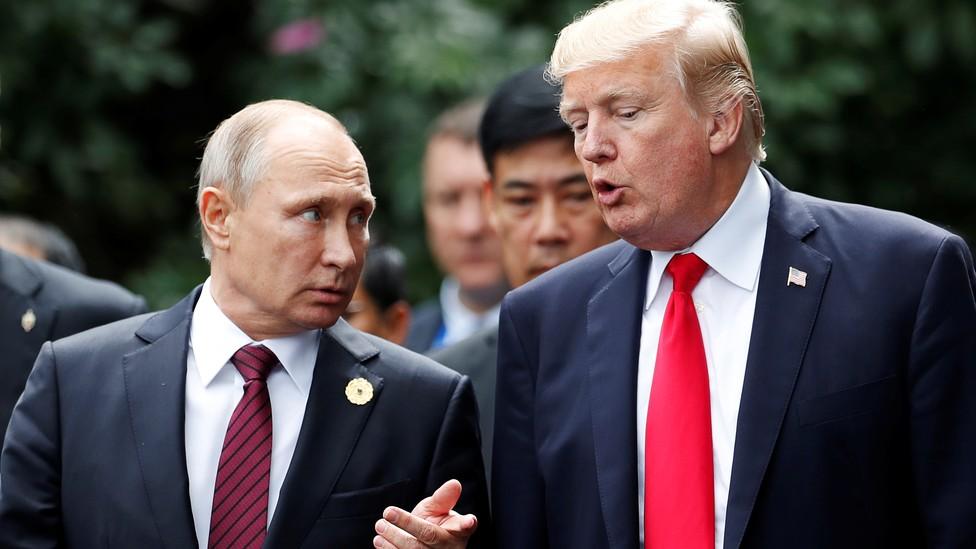 President Trump speaks with Russian President Vladimir Putin