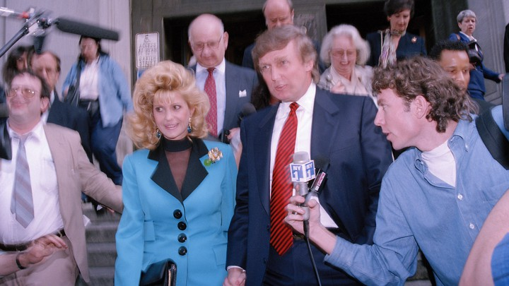 Donald and Ivana Trump leave court in 1993.