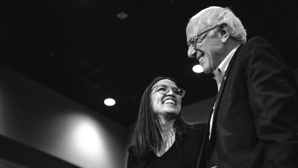 Alexandria Ocasio-Cortez and Bernie Sanders have influenced Joe Biden's politics
