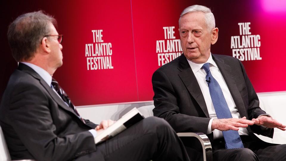 Jeffrey Goldberg (left) and Jim Mattis