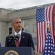 Barack Obama speaks at a 9/11 commemoration at the Pentagon.