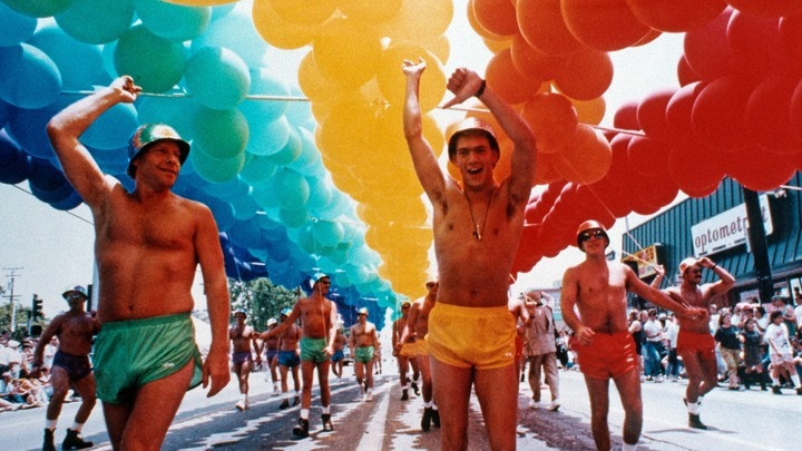 A 1991 Gay Pride Parade in West Hollywood, California