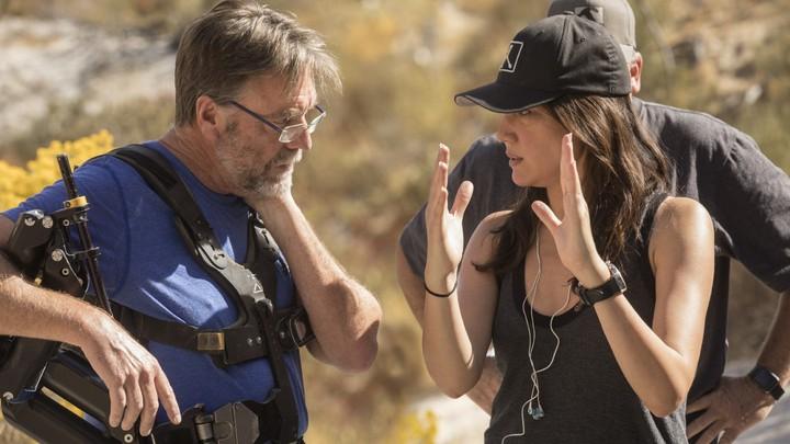 Lisa Joy on the set of 'Westworld'