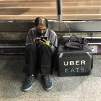 a photo of an Uber Eats worker in São Paulo