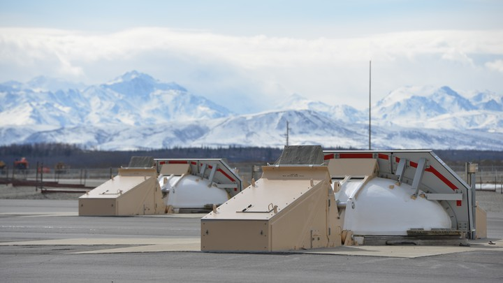 A silo housing a ground-based interceptor missile is covered at the Ft. Greely missile defense complex in Fort Greely, Alaska.