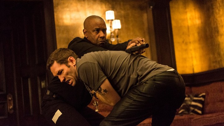 """Denzel Washington and Nash Edgerton in a scene from """"The Equalizer."""""""