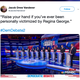 """A tweet reading """"Raise your hand if you've ever been personally victimized by Regina George"""" displays a photo of a group of 2020 Democratic presidential candidates all raising their hands."""