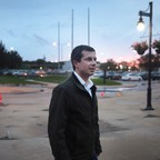 photo: Democratic presidential candidate Pete Buttigieg at a campaign stop in Waterloo, Iowa, in September.
