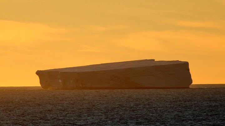An iceberg floats near China's Zhongshan Station in Antarctica.