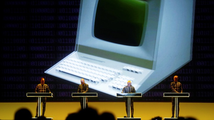 The electronic band Kraftwerk performs in 2016.