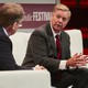 Lindsey Graham onstage with Jeffrey Goldberg at the Atlantic Festival.