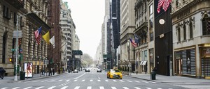 photo: an empty street in NYC