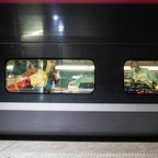 Medical staff treat patients aboard a high-speed train in France.