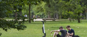 photo: an e-scooter in a park