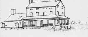 Olmsted's drawing of a Staten Island farm house