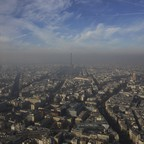 A heavy layer of smog over Paris
