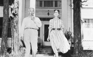 William Faulkner and his wife Estelle in 1955