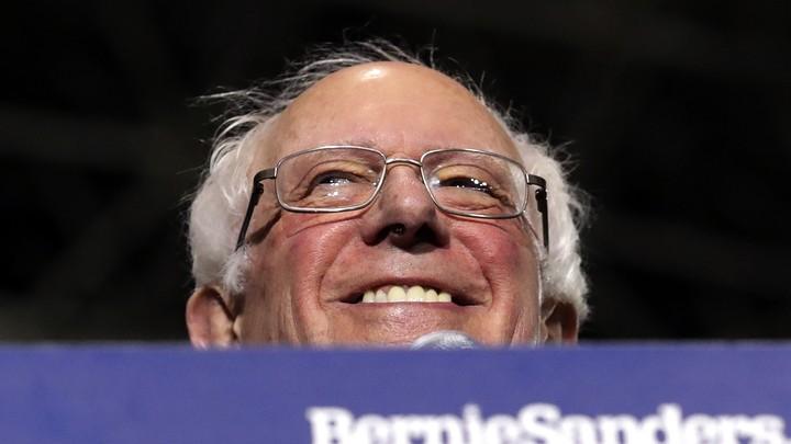 Bernie Sanders smiling