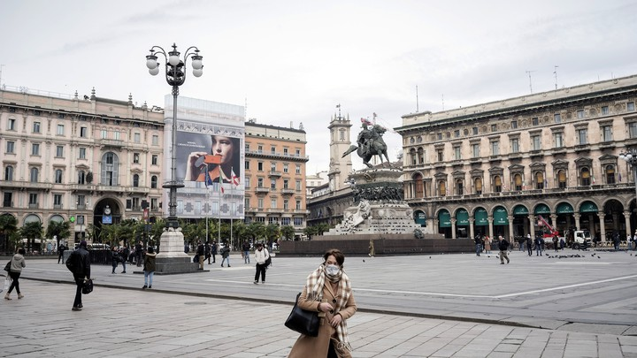 The normally busy Piazza Duomo​ in Milan, Italy on March 5, 2020.
