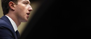 Facebook's Mark Zuckerberg  testifying before Congress in April 2018.