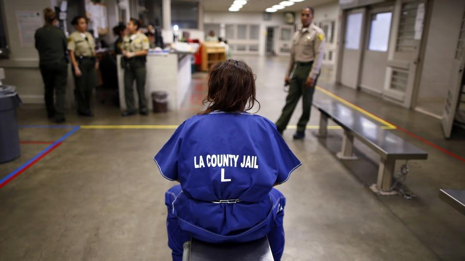 A female inmate at a Los Angelas prison