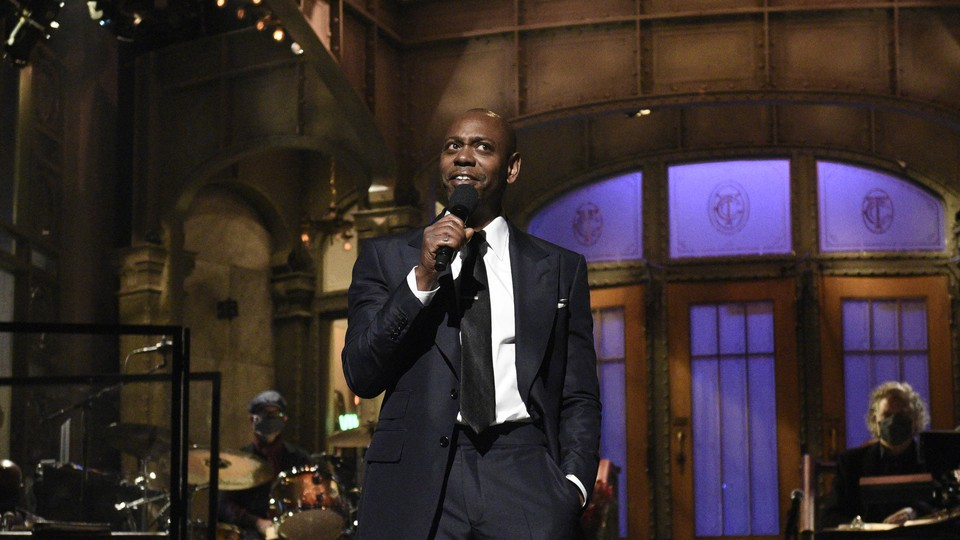 Dave Chappelle on the SNL stage