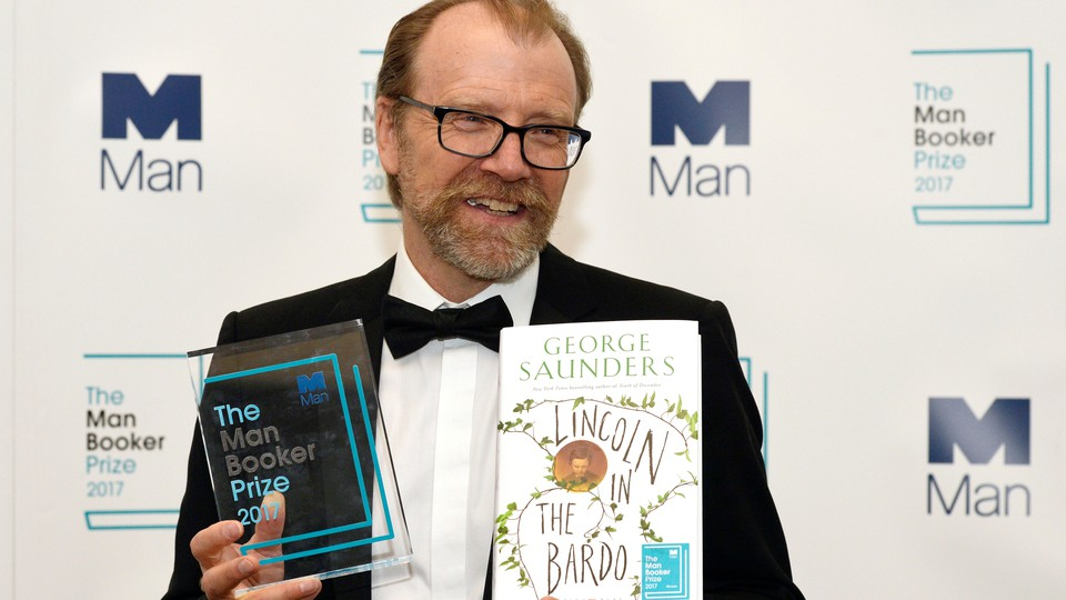 George Saunders at the 2017 ceremony for the Man Booker Prize, which the American author won for 'Lincoln In the Bardo'
