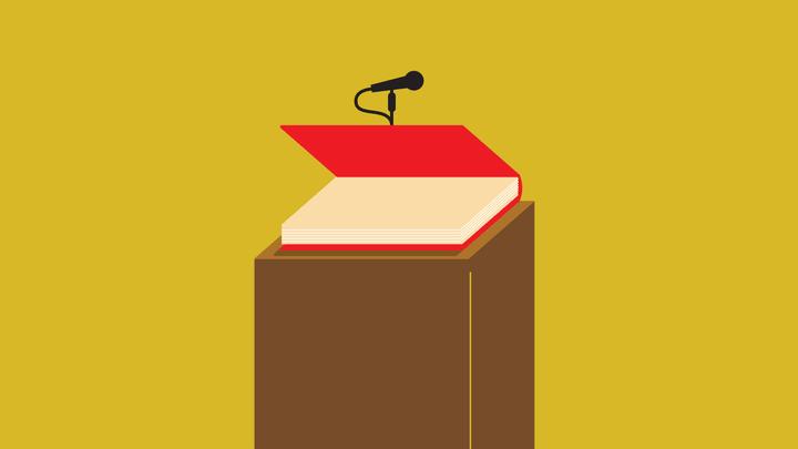 illustration of a podium