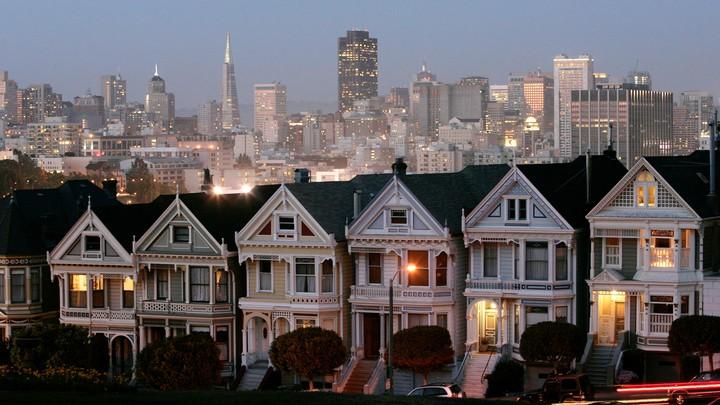 Row houses in San Francisco