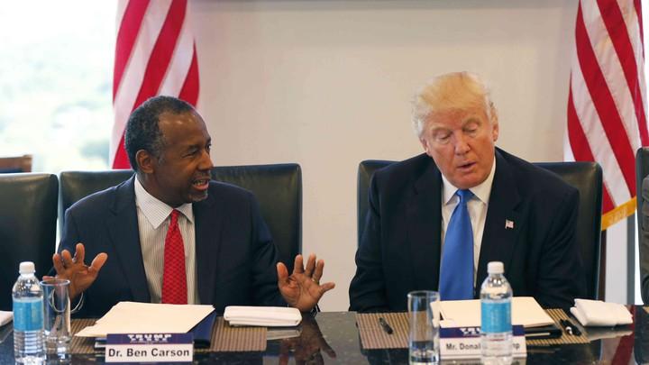 President-elect Donald Trump with Ben Carson