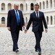 French President Emmanuel Macron and President Trump pictured at Les Invalides in Paris, France on July 13, 2017.
