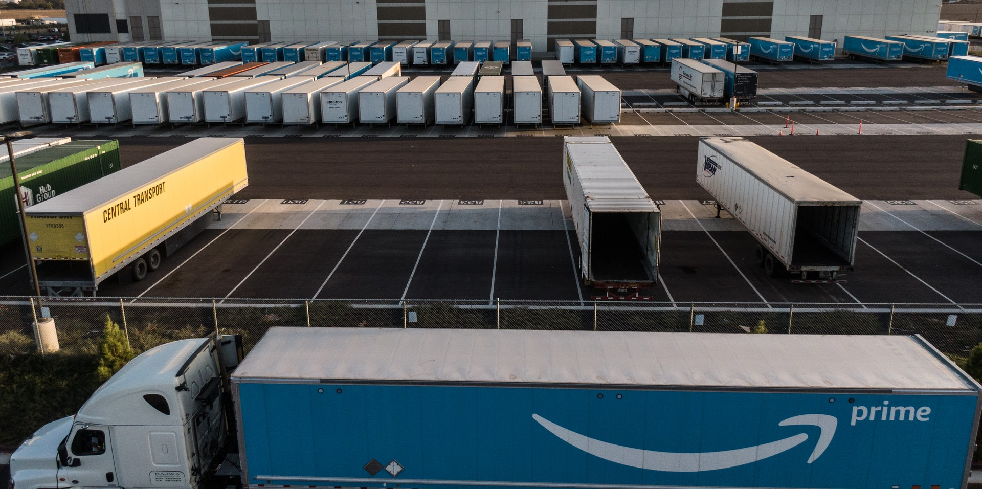 An amazon parking lot