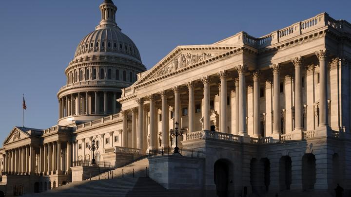 The Senate side of the U.S. Capitol