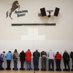 Voters in Boise, Idaho