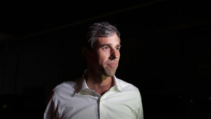 Beto O'Rourke stares off into the distance.