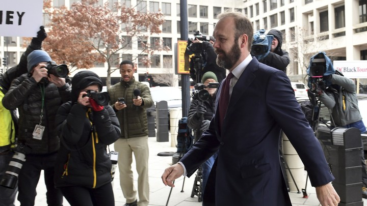 Rick Gates arrives at federal court in Washington, D.C., on February 28.