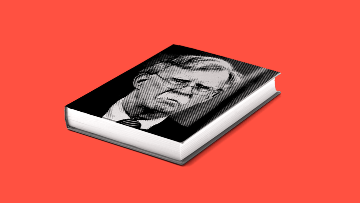 An illustration of a book with John Bolton's face on the cover.