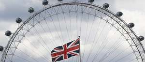 The London Eye is pictured.