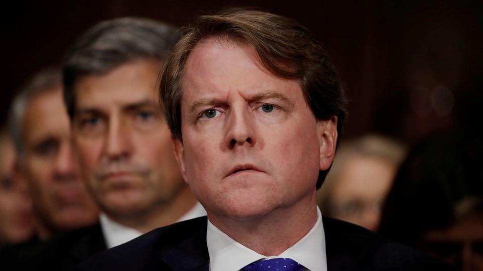 White House Counsel Don McGahn