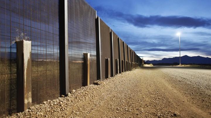 The Arizona-Mexico border fence