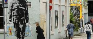 a photo of graffiti in Bristol, UK