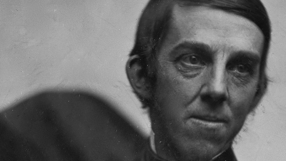 A cropped version of a daguerreotype of Oliver Wendell Holmes, showing just his face.