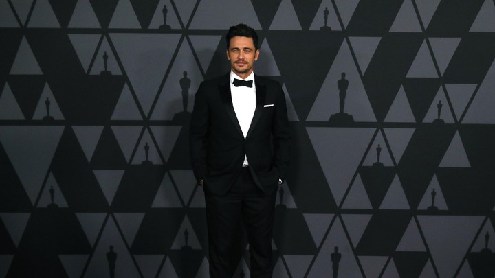 James Franco makes his arrival at the 2017 Academy Awards.