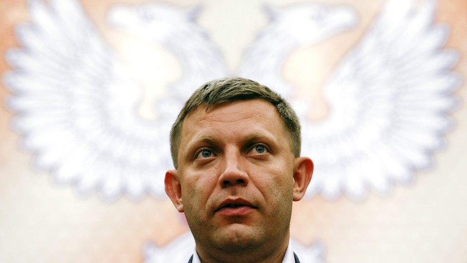 Alexander Zakharchenko, a separatist leader and the head of the self-proclaimedDonetsk People's Republic