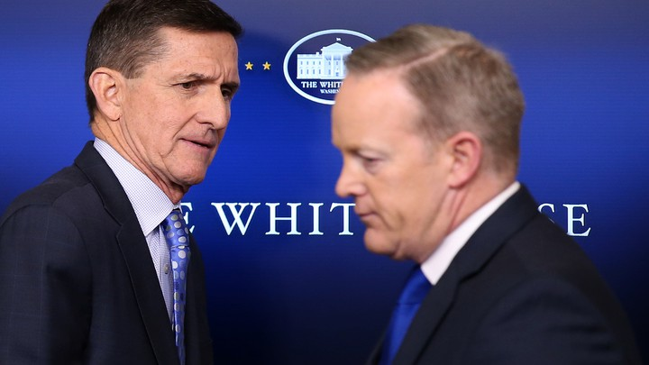 National Security Advisor Michael Flynn and White House Press Secretary Sean Spicer